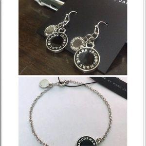 Marc Jacobs matching earrings dangle black/silver